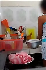 Brother/sister fuck session set in the kitchen